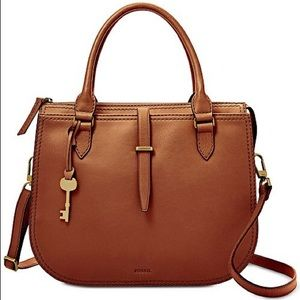 """Fossil """"Ryder Satchel"""" in Brown, NEW with tags"""